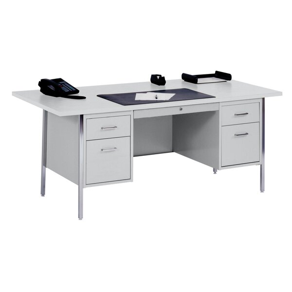 500 Series 5 Drawers Executive Desk by Sandusky Cabinets