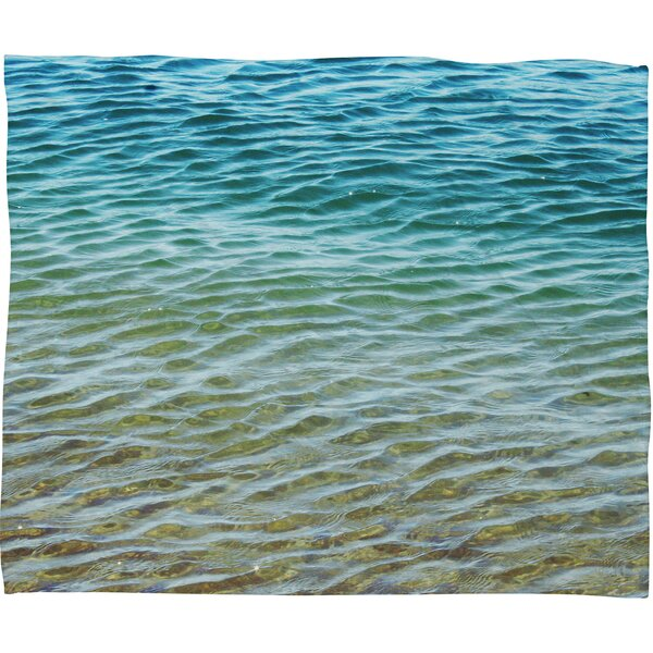 Rory Ombre Sea Throw Blanket by Langley Street
