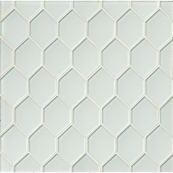 La Palma Glass Mosaic Tile in White by Grayson Martin