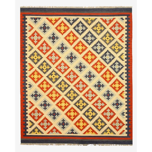 Keysari Kilim Handmade Blue Area Rug by Eastern Rugs