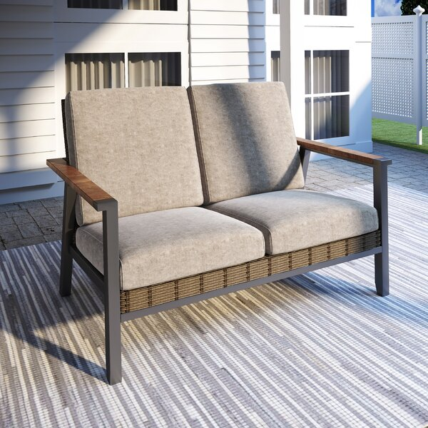 Sukran Loveseat with Cushions by Latitude Run Latitude Run