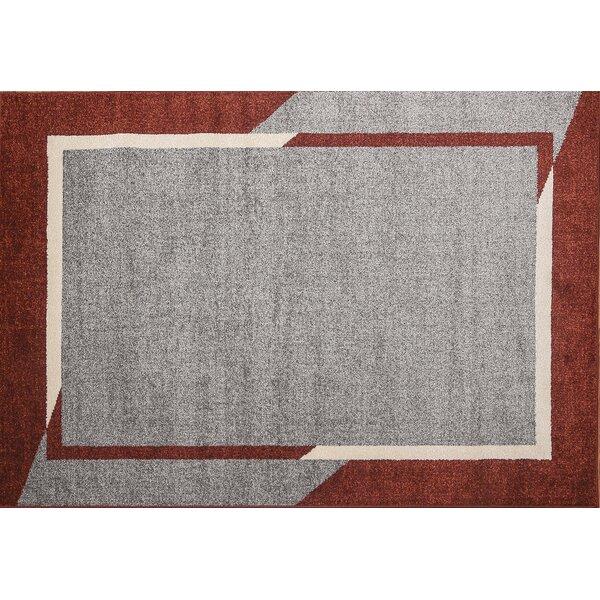 Havant Fine Sleek Gray/red Area Rug By Ebern Designs.