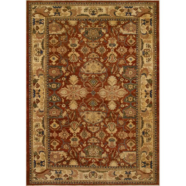 One-of-a-Kind Abagail Hand-Knotted 1960s Rust/Beige 11'11 x 18'2 Wool Area Rug