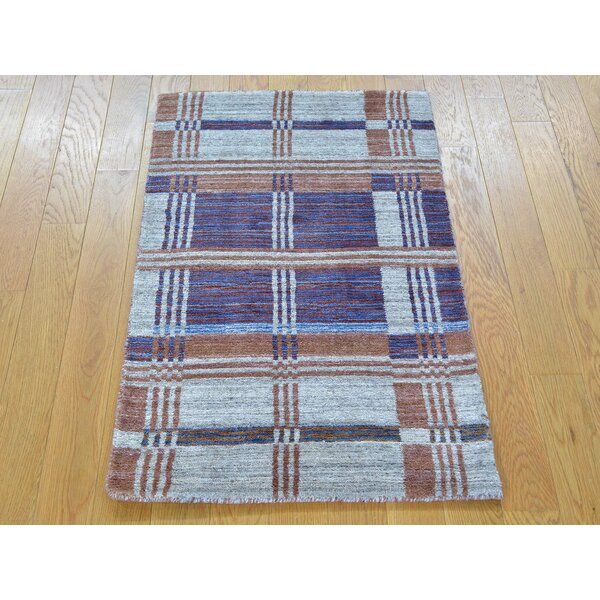 One-of-a-Kind Bonds Geometric Design Handwoven Wool Area Rug by Isabelline
