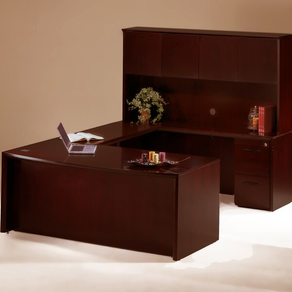 Corsica Series U-Shape Executive Desk with Hutch by Mayline Group