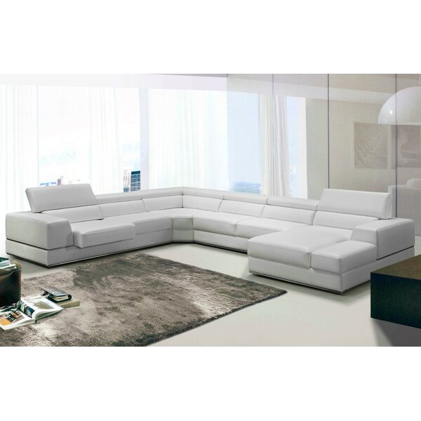 Coalpit Heath Leather Reclining Sectional by Orren Ellis