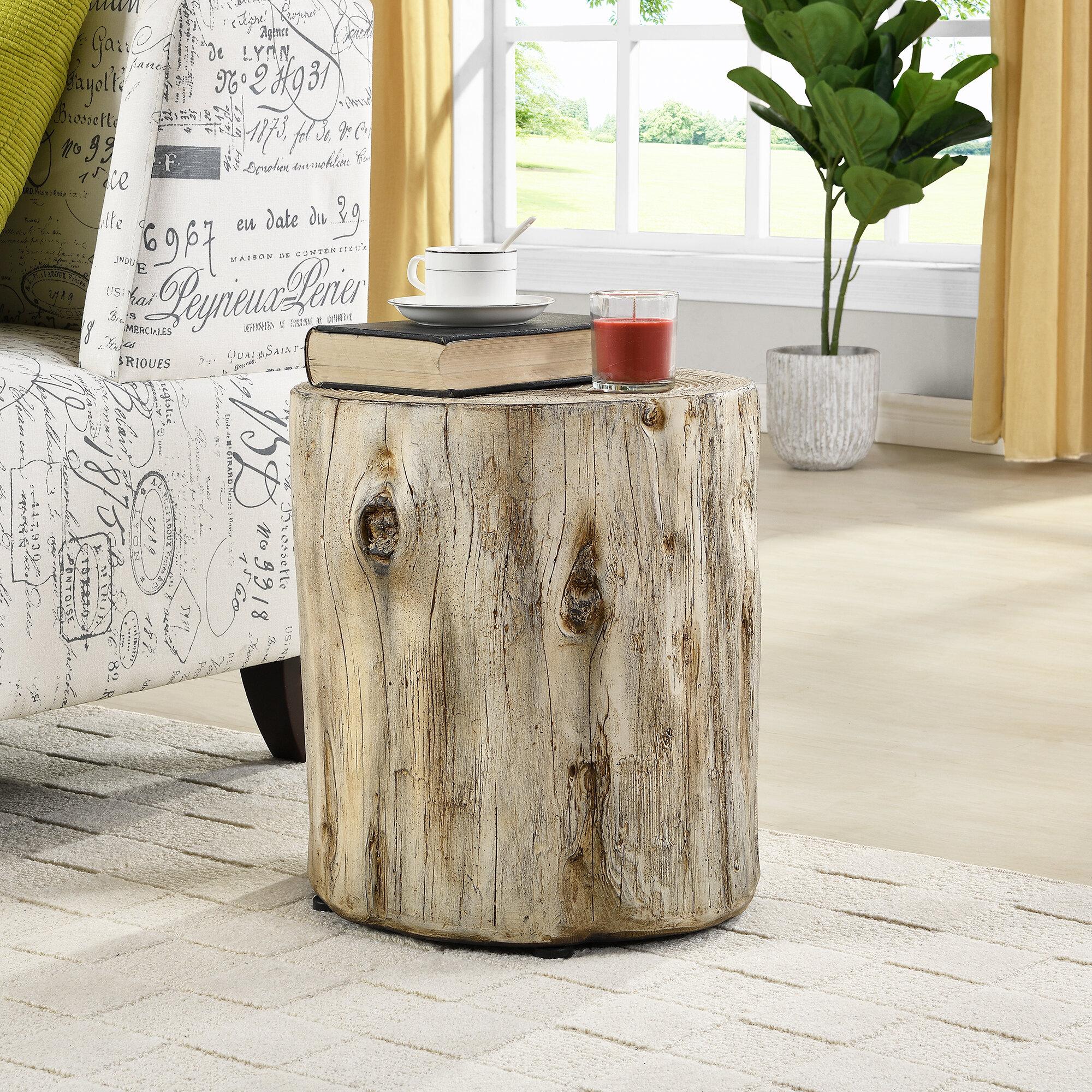 Picture of: Loon Peak Gosnold Tree Stump End Table Reviews Wayfair