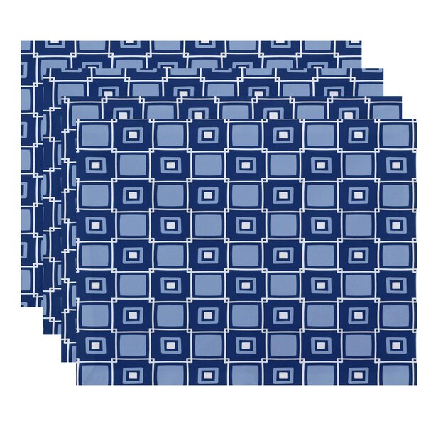 Endsley Square Pop Geometric Print Placemat (Set of 4) by Brayden Studio