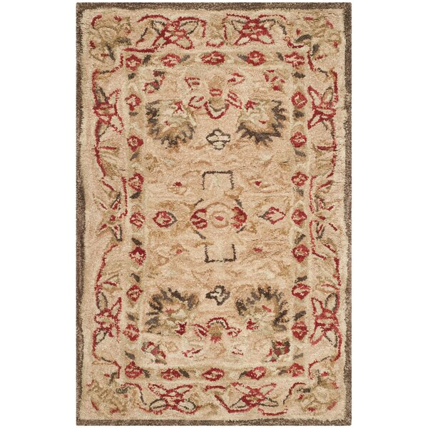 Anatolia Hand-Woven Wool Brown Area Rug by Safavieh