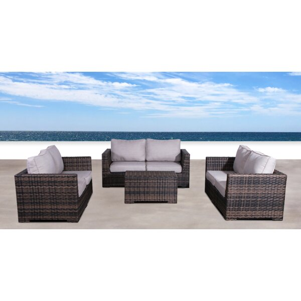 Pierson 4 Piece Sofa Set with Cushions by Brayden Studio