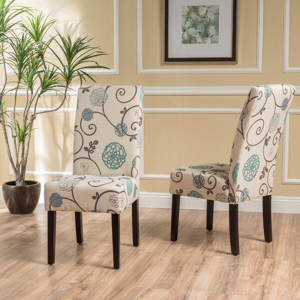Back East Upholstered Dining Chair (Set of 2) by Alcott Hill