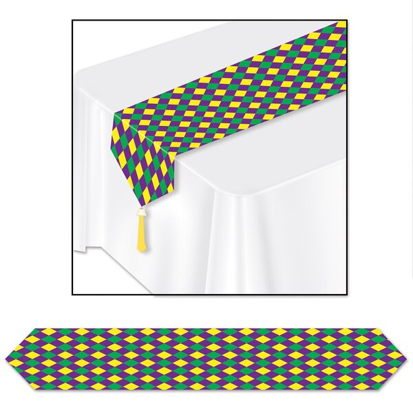 Finkelstein Mardi Gras Table Runner (Set of 3) by The Holiday Aisle