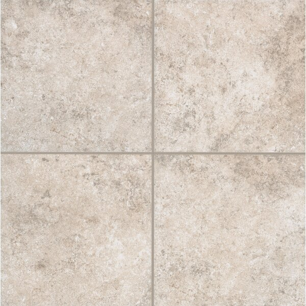 Pensdale Floor Glazed 18 x 18 Porcelain Field Tile in White Shell by Mohawk Flooring