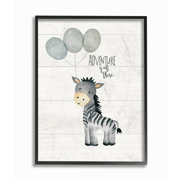 Feeley Adventure is out There Zebra Framed Art by Harriet Bee