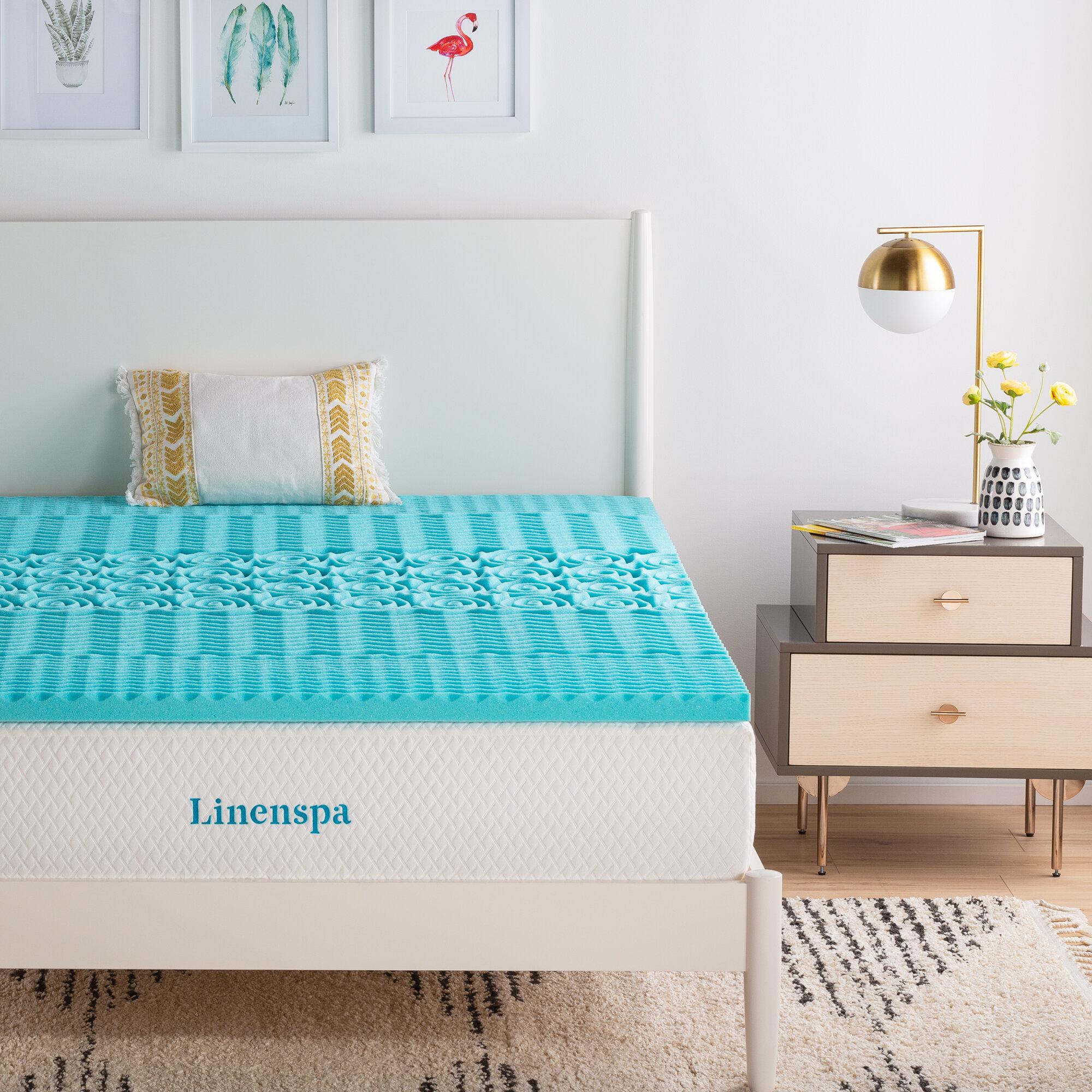 Linenspaessentials 2 Gel Memory Foam Mattress Topper Reviews