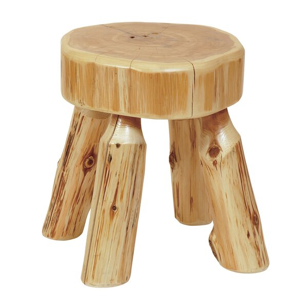Traditional Cedar Log Foot Accent Stool by Fireside Lodge