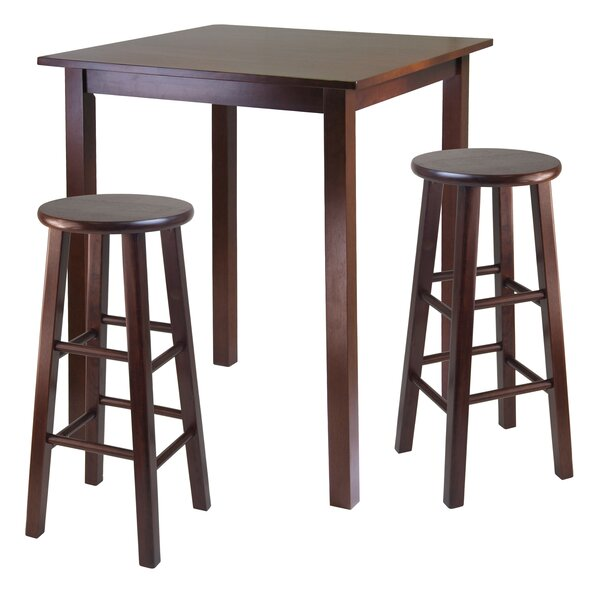 Auburn Road 3 Piece Counter Height Pub Table Set by Red Barrel Studio