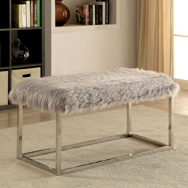 Agrippa Contemporary Metal/Metal Bench by Everly Quinn