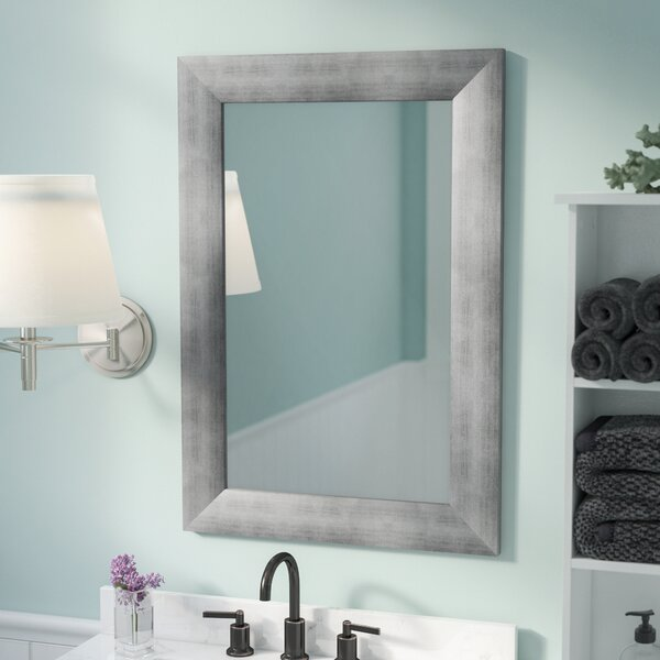 Rectangle Muted Cool Wall Mirror by Rosecliff Heights