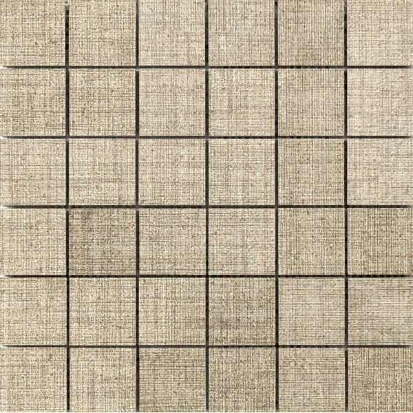 Canvas 2 x 2 Porcelain Mosaic Tile in Linen by Emser Tile