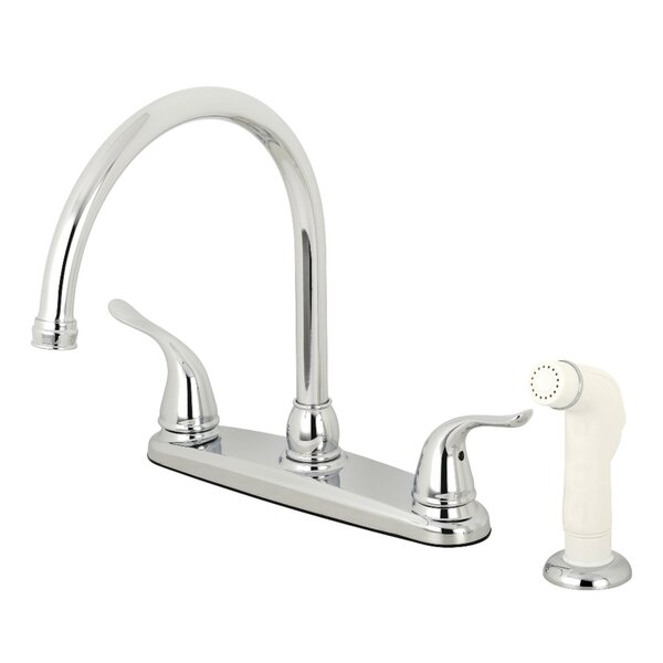 Yosemite Double Handle Kitchen Faucet with Side Spray by Kingston Brass Kingston Brass