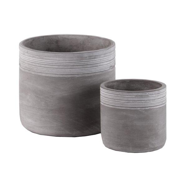 Bunnell 2-Piece Cement Pot Planter Set by Union Rustic