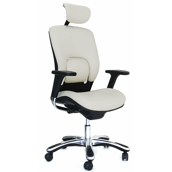 Ergonomic Genuine Leather Executive Chair by Symple Stuff