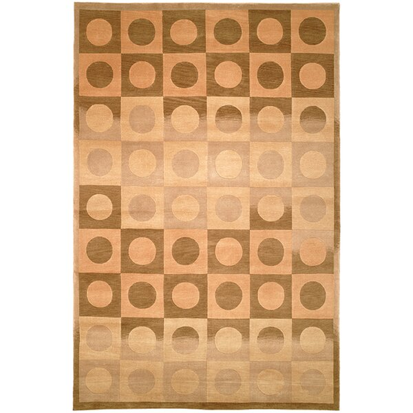 Ventura Hand Knotted Wool Beige/Brown Area Rug by Corrigan Studio