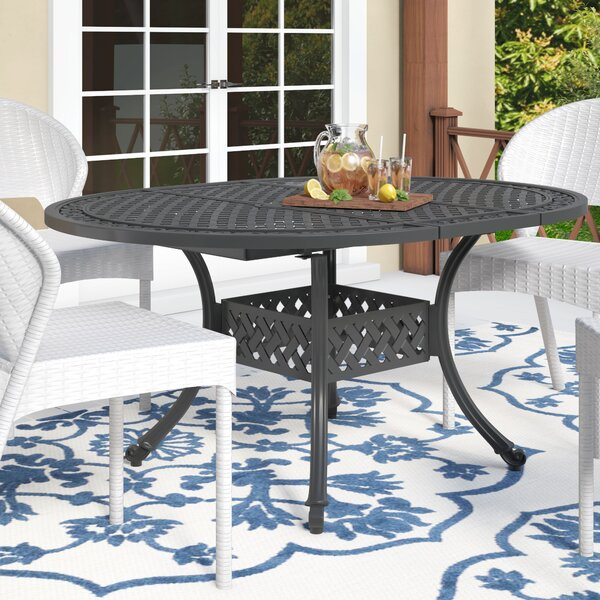 Brownell Outdoor Expandable Dining Table by Fleur De Lis Living