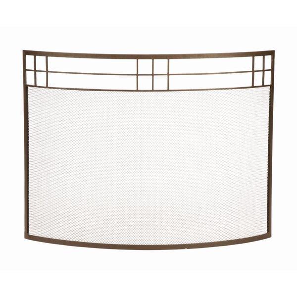 Vierras Single Panel Iron Fireplace Screen By Union Rustic