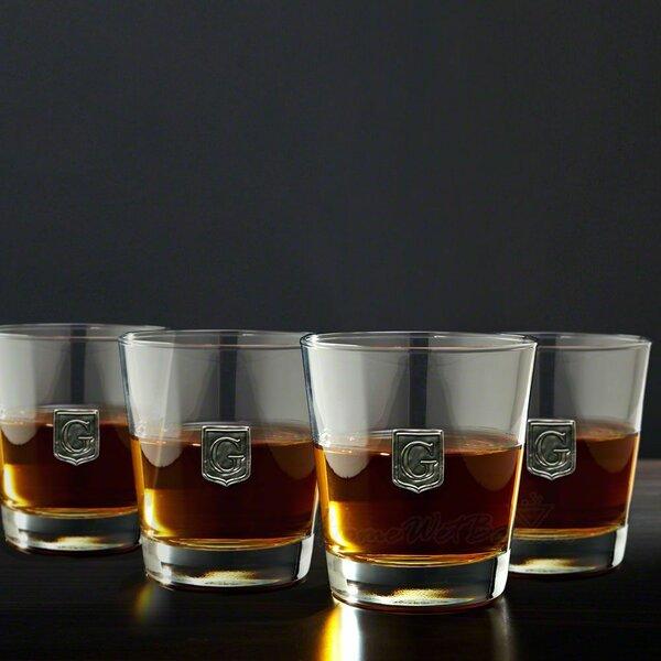 Yamashita Crested On the Rocks 12 oz. Glass Cocktail Glass (Set of 4) by Alcott Hill