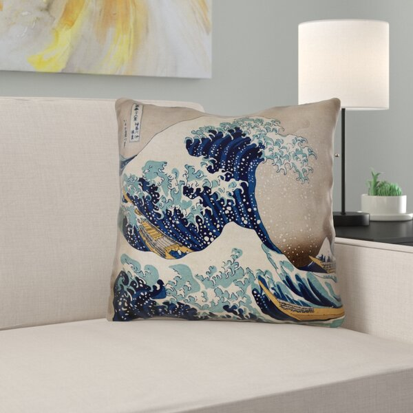 Raritan The Great Wave Square Outdoor Waterproof Throw Pillow
