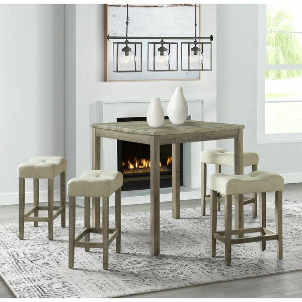 Steede 5 Piece Counter Height Dining Set by Gracie Oaks Gracie Oaks