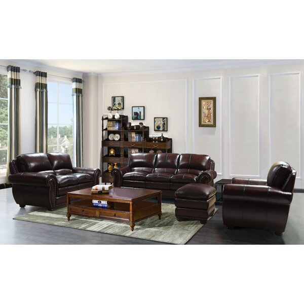 Pascarella Leather Configurable Living Room Set By Canora Grey