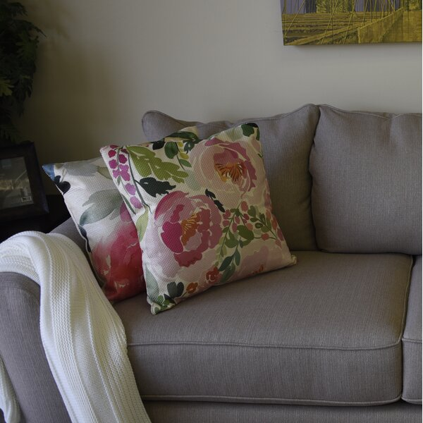 Aiken Charm Floral Throw Pillow by House of Hampton