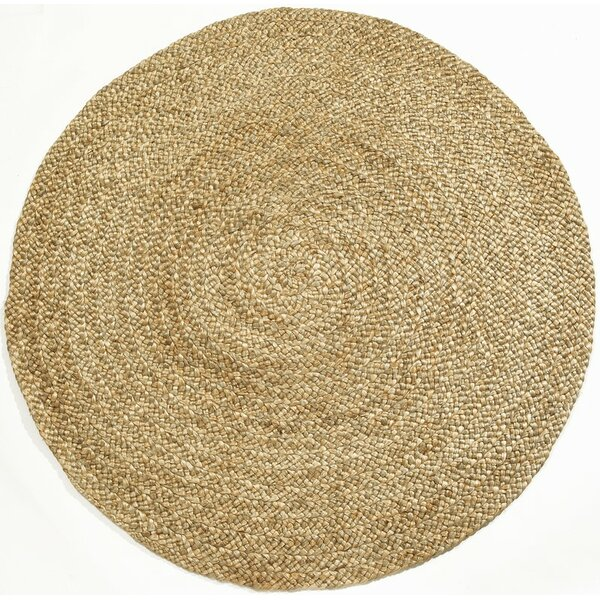 Lexus Braided Hand-Woven Yellow Area Rug by Gracie Oaks