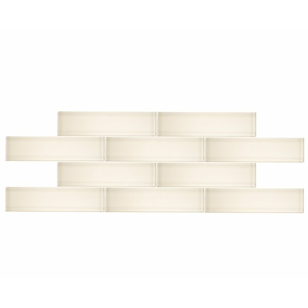 3 x 12 Glass Subway Tile in Cream by Vicci Design