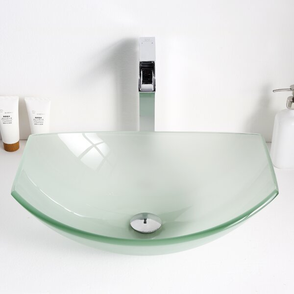 Pendant Glass Specialty Vessel Bathroom Sink by ANZZI