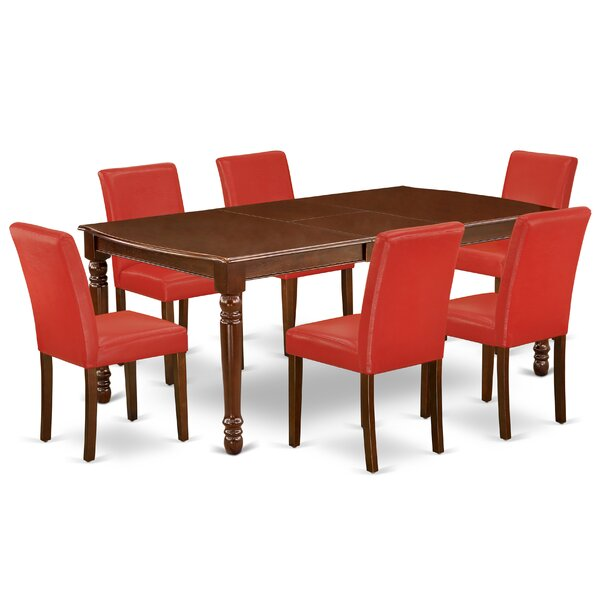 Maryjo 7 Piece Extendable Solid Wood Dining Set By Alcott Hill