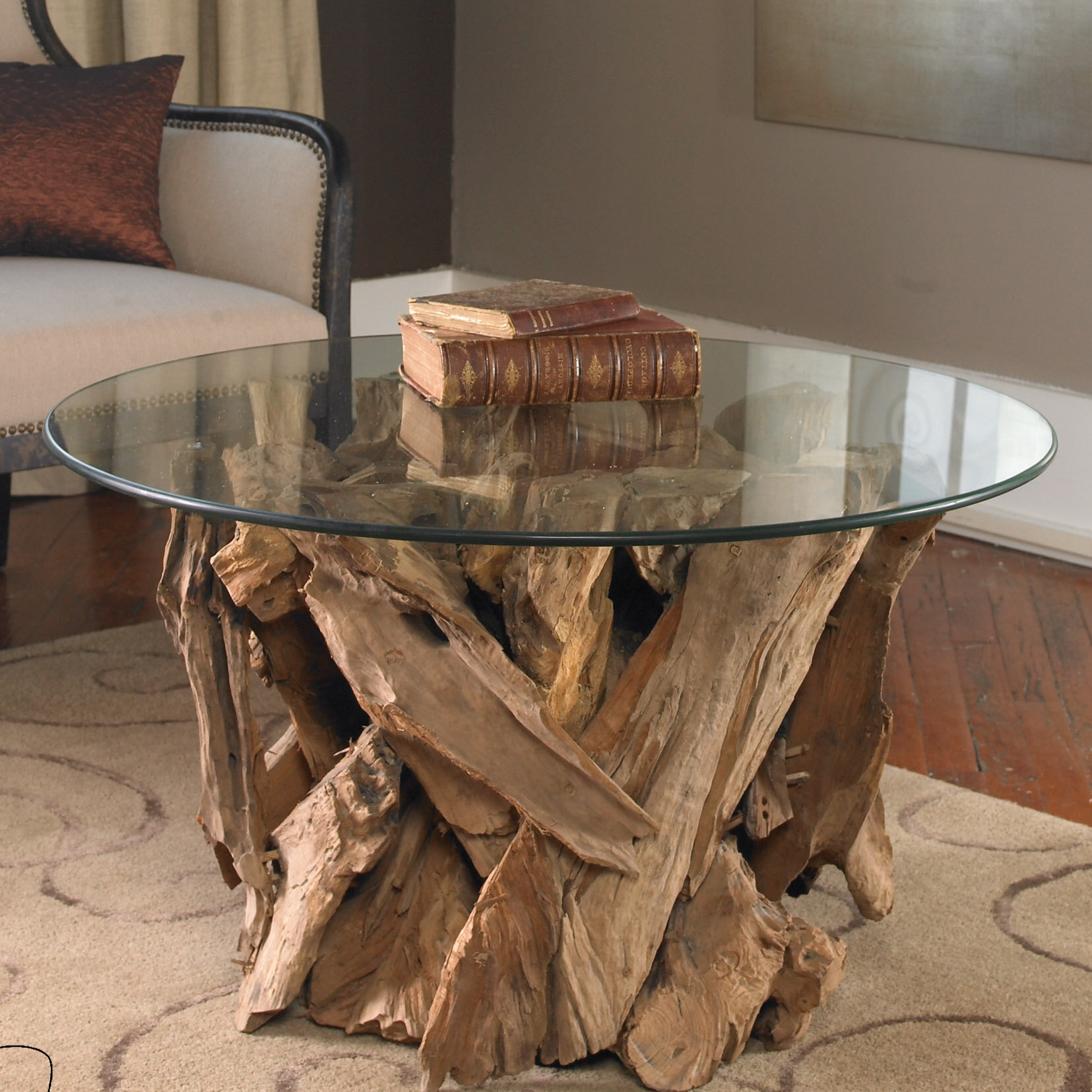 Union Rustic Cindi Driftwood Coffee Table  for Driftwood Outdoor Furniture  56mzq