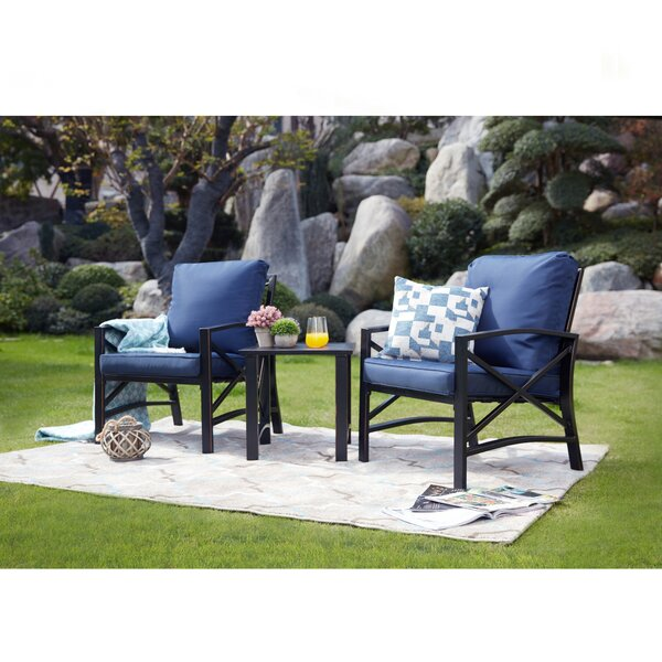 Derwent 3 Piece 2 Person Seating Group with Cushion by Gracie Oaks