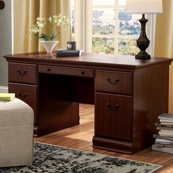 Sansbury Executive Desk by Astoria Grand