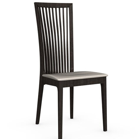 Philadelphia Leather Upholstered Slat Back Side Chair by Connubia Connubia