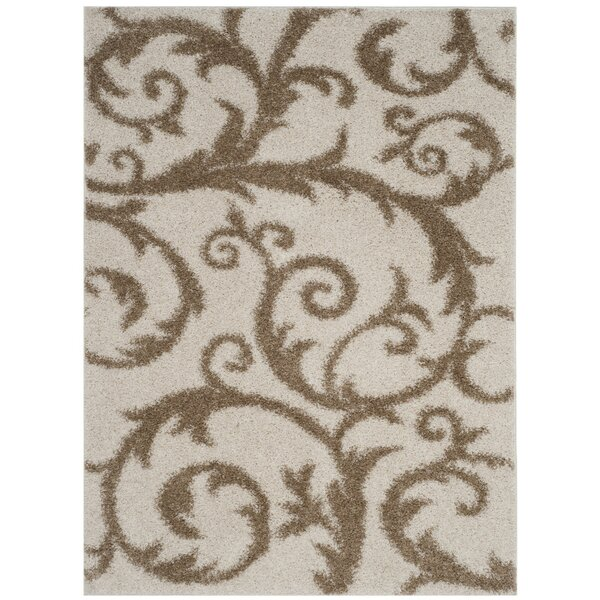 Blanche Ivory/Beige Area Rug by Charlton Home