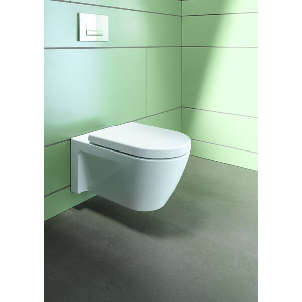 Starck Wall Mounted Washdown Dual Flush Elongated Toilet Bowl by Duravit