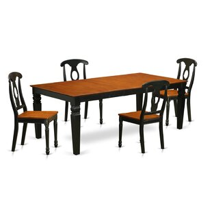 Beesley 5 Piece Black/Cherry Wood Dining Set By Darby Home Co