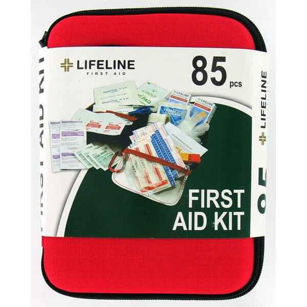 85 Piece Large Hard Shell First Aid Kit by Lifeline First Aid