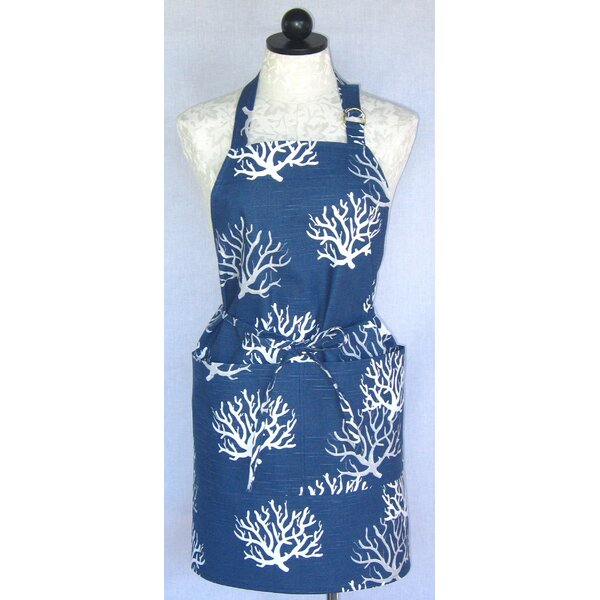 Cotton Coral Apron by Beachcrest Home