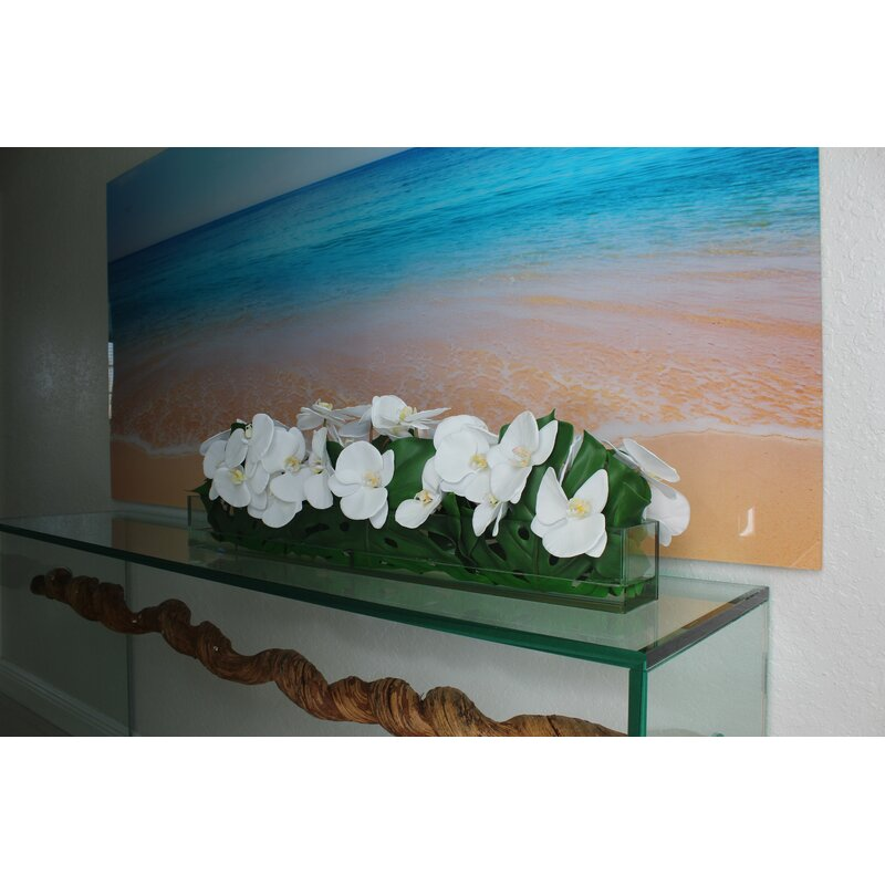 floral home decor orchid floral design wayfair.htm bayou breeze casa moderna glass plate orchid floral arrangement  bayou breeze casa moderna glass plate