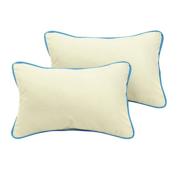 Lynnhaven Sunbrella Outdoor Lumbar Pillow (Set of 2) by Rosecliff Heights